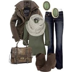 Distressed Leather & Olive