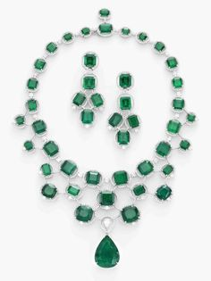 Highly Important Colombian Emerald and Diamond Suite