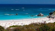 Horseshoe Bay - one of the famous pink sand beaches