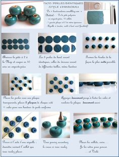How to make identical Pandora beads ~ Polymer Clay Tutorials