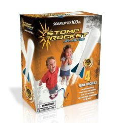 Stomp Rocket Jr. Glow Kit by D+L Company. $11.72. comes with 4 rockets. Refill rockets available. iParenting Media Award for excellent product and Top Toy of the year from Creative Child magazine. Indoor or outdoor. Amazon.com                Kids can get rid of some excess energy with this air-powered outdoor  rocket toy. No battery or fuel is needed to get the rockets airborne--just  some old-fashioned stomping power. Set up the simple launch stand in a clear  outdoor area, conn...
