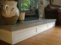 How to build a concrete fireplace hearth fireplaces pinterest concrete slab across top of mantel instead of bench concrete fireplace hearth solutioingenieria Gallery