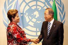 Presidente do Brasil Dilma Rousseff e o Secretário Geral da Organização das Nações Unidas Ban Ki-moon.