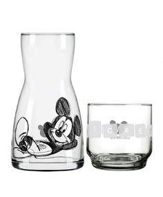 Moringa com Copo Mickey Transparente e Preta