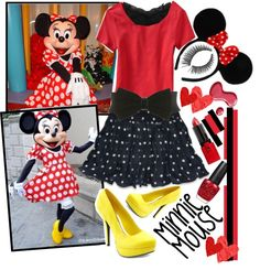 """""""DIY MINNIE COSTUME !"""" by nothingtowear on Polyvore"""