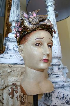 Santos Mannequin Head with Crown by edithandevelyn on Etsy, $74.50