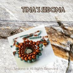 "@tinassedona: ""Handmade Necklace of turquoise & glass with modified Cellini spiral pendant This piece features…"""