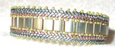 PATTERN Tila Herringbone Bead Weaving by BaublesbyBalonis on Etsy, $8.00...took Marcia's class...fantastic!
