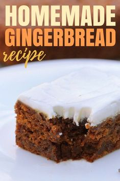 Gingerbread is such a classic holiday flavor and it makes the house smell amazing! I love this time of year and this recipe swaps in a few healthy ingredients so you can still indulge in the best holiday treats with your family! This Homemade Gingerbread