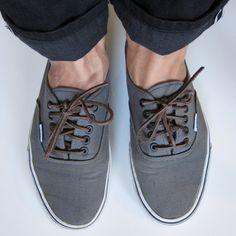 Grey Vans Authentics