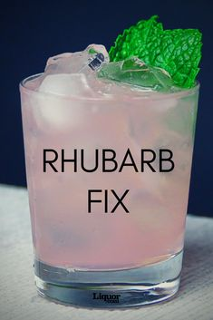 Beauty Meets Strength in the Rhubarb Fix: Get refreshed with this icy-cold rhubarb, sherry and gin cocktail.