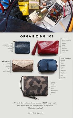 Tote / Purse organization