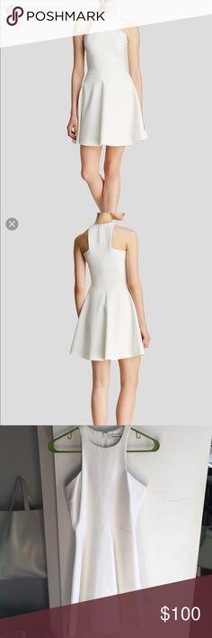 Elizabeth and James Clarissa White High neck dress Clarissa stretch crepe dress. Worn twice. Elizabeth and James Dresses Mini