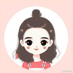 Cute Anime Chibi, Kawaii Anime Girl, Anime Art Girl, Girly Drawings, Cartoon Drawings, Girl Cartoon, Cartoon Art, Portrait Cartoon, Cute Love Cartoons