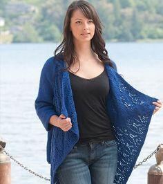 Summer Lace Wrap Cardigan diseñada porVera Sanon http://www.ravelry.com/patterns/library/summer-lace-wrap-cardigan