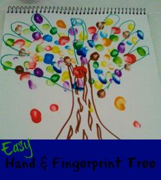 It's that time of year when I start to think of fun and easy crafts my kids can create that I can later on use as gifts for family members during the holiday season and this simple Easy Hand & Fingerprint Tree is one of my favorites. Not only is it one of the most inexpensive crafts you can make, it is cute enough to frame in a nicer picture frame and present as a gift item for grandparents, aunts and uncles at Christmas.
