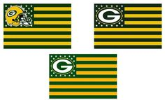 Cheer on your favorite team with these Packers Stars and Stripes Premium Team Football Flag! Let everyone know that you're a Packers Fan!   Product Features:  Brand-new, Packed in OPP Bag, Unopened & Unused High quality, durable and light weight polyester 90x150cm, 3x5ft, 36x60in white sleeve with 2 Brass Grommets to Attach to Flagpole, double stitched edges for durability Digital Print, for indoor and outdoor use  Get Your Very Own Packers Stars and Stripes Premium Team Football Flag To...