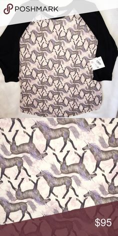 Thee ULTIMATE Unicorn Lularoe Randy 🦄 YOUR time is VALUABLE ⏳, so I have searched high and low for this limited edition, hard to find, rare unicorn treasure 🦄✨ This print symbolizes something you love ❤️  You WANT IT NOW, and here it is 🤗 💋Treat yo self 💐  💌please, no rude comments LuLaRoe Tops