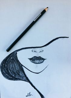 Drawing, 2019 dibujar arte, dibujos a lápiz ve cosas de dibujo. Easy Pencil Drawings, Cool Art Drawings, Drawing Sketches, Drawing Tips, Face Drawing Easy, Easy Doodles Drawings, Pencil Sketching, Drawing Pictures, Cartoon Drawings
