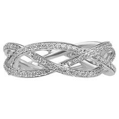 Braided Diamond Ring  ...band? ..i just need to see this ring then i can pick my band :)