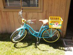 DIY Bike Basket from old Milk Crate.