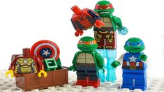 LEGO Wrong Brick Bodies with TMNT. In this animation Ninja Turtles as Avengers. They are decide to be superheroes. TMNT Donnie make portal and ask his brothers to wrong brick.  Mikey goes first and became Thor, second Raph to Hulk, than leo to Captain America. Donatello make armor of IRON MAN.   #LEGO #TMNT #AVENGERS Lego Hulk, Lego Spiderman, Lego Ninja Turtles, Teenage Mutant Ninja Turtles, Lego Wolverine, Lego Iron Man, Iron Man Armor, Lego For Kids, Star Wars Party