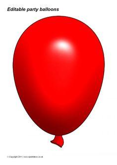 Red Balloon, Balloons, Balloon Template, Birthday Clipart, Essie, Free Printables, Clip Art, Templates, Cartoon