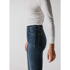 it's a myth that only rigid jeans can document our lives and travels... trust us. THE FIT elizabeth sits higher on the waist for new-meets-old-fashioned feel, with a slimmer leg and flattering wide-set pockets. elizabeth is a sexy h