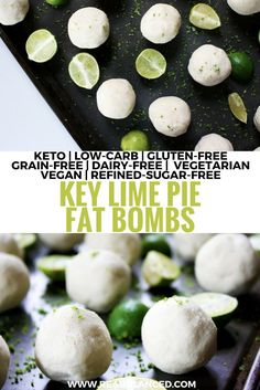 Key Lime Pie Fat Bombs: keto, low-carb, gluten-free, grain-free, dairy-free, vegetarian, vegan, and refined-sugar-free!