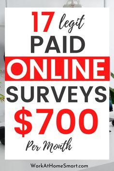 Surveys That Pay Cash, Make Money Online Surveys, Paid Surveys, Online Earning, Online Jobs, Earning Money, Make Money Today, Ways To Earn Money, How To Make Money