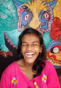 Lali Khatoon who lives at the shuktara girls home and goes to school at the cerebral palsy unit of REACH in Kolkata