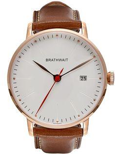 Automatic Minimalist Wrist Watch: Marron top grainTop Grain Italian calf leather…