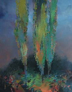 Randall David Tipton - Poplars in the Gloaming