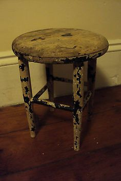 Antique Milking Stool Kitchen Stool All Wood Strong Sturdy Perfect Patina | eBay