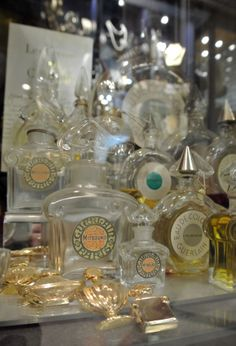 Vintage perfume bottles from Linda Bee in Grays Mews.