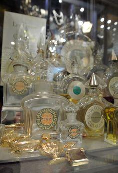 Vintage perfume bottles from Linda Bee in Grays Mews.
