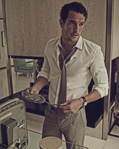 Ford model Justice Joslin is photographed by Mariano Vivanco and styled by Julie Ragolia in 'Bungalow 13 Laurel Canyon', the cover story for Man of the World no.3; with hair by John Ruidant and video editing by Junietsy De Marcos.