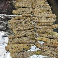 Zucchini fries prepped and ready for the oven!! Extremely low carb and believe it or not really delicious! Dipped in egg and then rolled in Ezekiel bread crumbs and oat flour.. baked at 350 until crispy and there you have some delicious zucchini fries!  #frenchfries#healthyalternatives#mealprepsunday#sundayfunday#groupon#diet#nutrition#healthyliving#menwhocancook#mealprep##shredded #fitfemales #fitforlife #igfit #cleaneatz #ighealthyrecipes #healthy #recipes #girlswholift #girlswithmuscles…