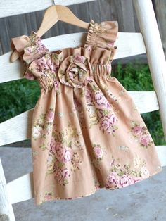SALE Vintage Summer Dream Rosette Dress 3m3T by JoyfulGirlBoutique, $29.99