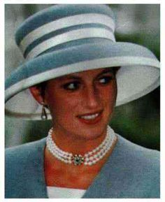 October 8, 1993: HRH Diana, Princess of Wales at the wedding of Princess Margaret's son, Viscount Linley to Miss Serena Stanhope in London.