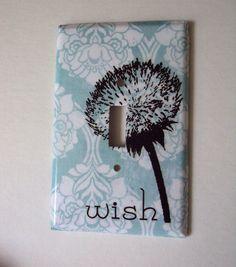 Dandelion Switchplate Pastel Mint Damask