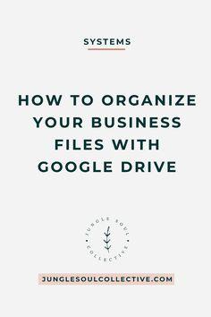 Tired of being overwhelmed with your digital file mess? Simplify your business by implementing business systems. If your digital files pile up, it's time to go cloud-based and implement a simple but effective file structure. Use this system to organize your business files with Google Drive and keep them under control. #businesstips #solopreneur #smallbiz #simplifybusiness #junglesoulcollective Business Organization, Planner Organization, Process Improvement, Sales Process, Sales Strategy, Marketing Techniques, Cloud Based, Sales Tips, Creative Business