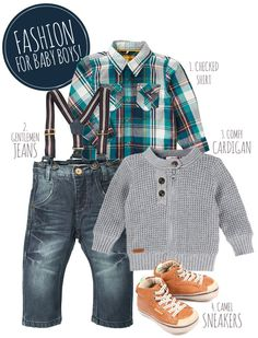 & for Kids: Baby Boys - Pret a Pregnant& Ummmmm.this is the way I dress now, minus the suspenders. Maybe I should add suspenders? Baby Outfits, Outfits Niños, Cute Outfits For Kids, Cute Kids, Toddler Boy Fashion, Little Boy Fashion, Toddler Boys, Kids Fashion, Winter Fashion