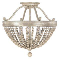 "$279- (Capital Ltng) Beaded Elegance Ceiling Light -(16""Hx16.25""W) Canopy: 6"" diameter x .75""H"