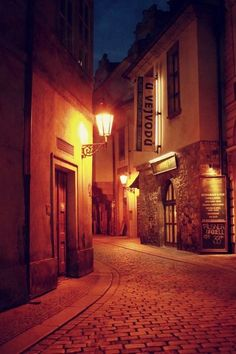 Cobblestone Street, Prague, Czech Republic