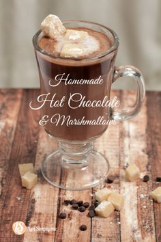 homemade hot chocolate and homemade marshmallows