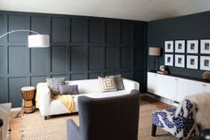 Before & After: Sophisticated and Dramatic Wainscoting — Chris Loves Julia