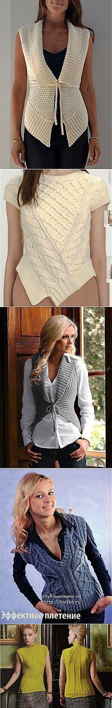 La elección de 17 modelos de los chalecos tejidos en knitka.ru