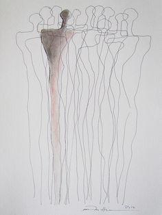 Åse Margrethe Hansen Defined. Ink, charcoal, color penci