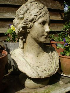 The Garden Room - Vintage French Art Nouveau Lady Bust,Garden Reclamation, �299.00 (http://www.the-gardenroom.co.uk/vintage-french-art-nouveau-lady-bust-garden-reclamation/)